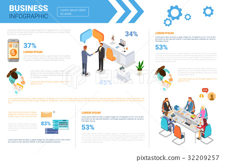 Business Infographics Set With Copy Space For 32209257