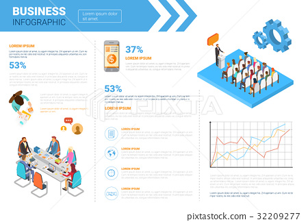 Business Infographics Set With Copy Space For 32209277