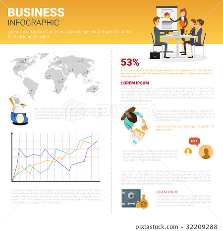 Business Infographics Set With Copy Space For 32209288
