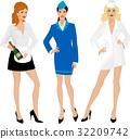 Group of beautiful girls in uniform 32209742