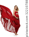 Pregnant girl in red dress 32210788