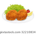 croquette, deep, fried 32210834