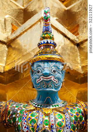 Giant Buddha in Grand Palace, Thailand 32211927