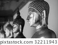 Buddha statue, Black and white 32211943