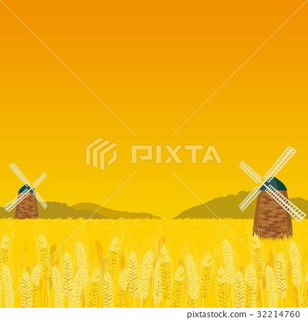 小麥地 風車 風力渦輪機 32214760