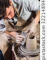 pottery, workshop, ceramics art concept - yong 32214894