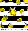 pattern, seamless, lemon 32215519