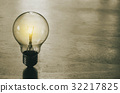concept light bulb on wood background 32217825