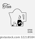 Cup of Hot Tea Vector Icon 32218584