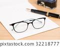 안경, 편지지, 돋보기 32218777