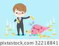 businessman with liver 32218841