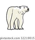 白色 熊 图标 32219015