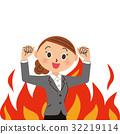 燃燒 女性 女 32219114