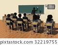 學校 教室 小學生 32219755