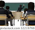 學校 教室 小學生 32219766