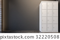 Locker cabinet in gym , 3d rendering 32220508