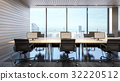 Office space with sky view , 3d rendering 32220512