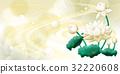 흰 연꽃의 일러스트 및 흰색 배경 32220608