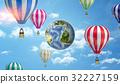 地球儀 球體 氣球 32227159