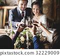 bride, glass, groom 32229009