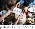 birthday cake card 32229233