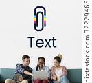 Paper Clip Mail File Attachment Graphic 32229468