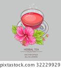 cup of hibiscus tea 32229929
