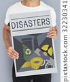 Disaster Calamity Destruction Damage Concept 32230341
