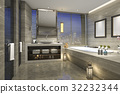 night view bathroom with modern luxury design 32232344