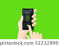 Hand Holding Smartphone With Conceptual Unlocked 32232890