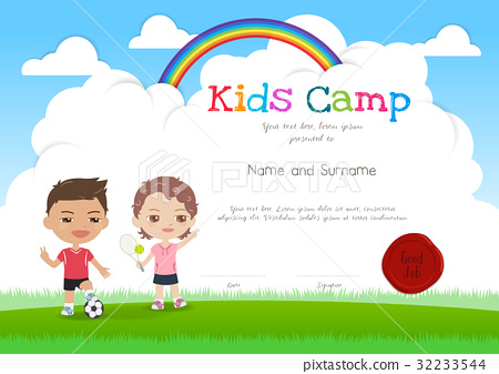 Kids summer camp diploma certificate template stock illustration kids summer camp diploma certificate template yadclub Gallery