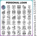 Personal loan icons 32233697