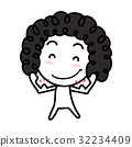 Cartoon Character with strong hands 32234409