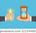 Businessman buying a Hourglass 32234480
