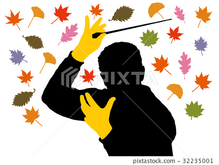Autumn leaves and conductors 32235001