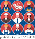 Flat avatars of engineering workers 32235419