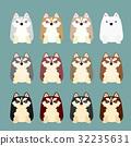 各種毛茸茸的哈士奇幼犬 32235631