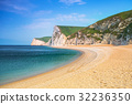 White cliffs on the Jurassic Coast of Dorset, UK 32236350