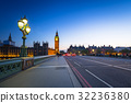 London scenery at Westminter bridge with Big Ben 32236380