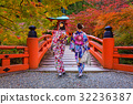 Walk in Daigo-ji temple with colorful autumn 32236387