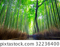 Bamboo forest of Arashiyama near Kyoto, Japan 32236400
