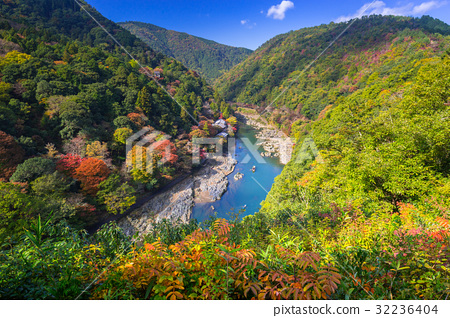 Autumn at Arashiyama view point and Hozu river 32236404