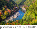 Autumn at Arashiyama view point and Hozu river 32236405