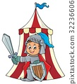Knight by tent theme image 1 32236606