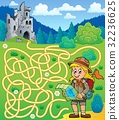 Maze 4 with scout girl 32236625