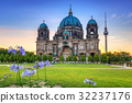 Berlin Cathedral and TV Tower at sunrise, Germany 32237176