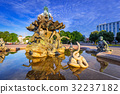 The Neptune Fountain in Berlin at sunrise, Germany 32237182
