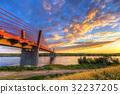 Cable stayed bridge over Vistula river in Poland 32237205