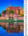 波兰 城堡 黄昏 32237210