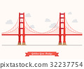 Golden Gate Bridge illustration 32237754